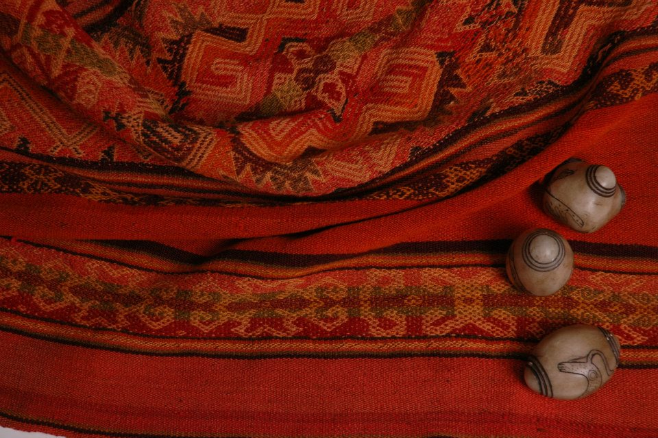 Woven Mestana Cloth from Peru with Chumpi Stones